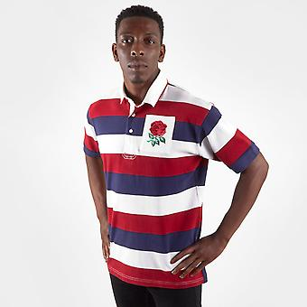VX-3 England 2019/20 Vintage S/S Stripe Rugby Polo Shirt