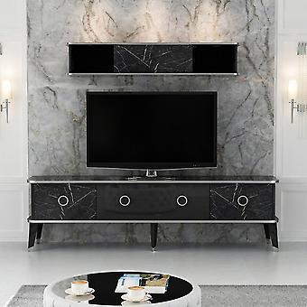 Mobiler TV-Anschluss Bien White Color, Silber in Melaminischem Chip, Metall, L180xP35xA50 cm, L150xP22xA26 cm