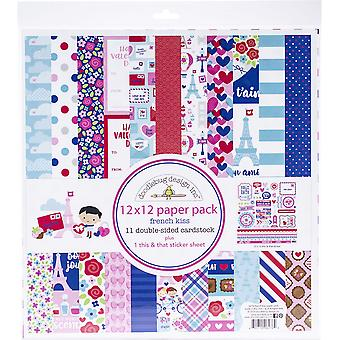 Doodlebug Design French Kiss 12x12 Inch Paper Pack