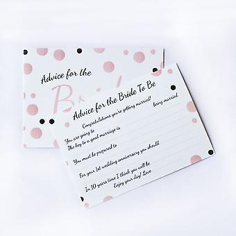 6 x Rose Gold Plettet Design Bride Rådgivning Kort, Hen Party Spil