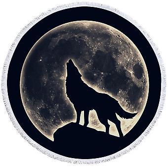 Moon Light Moose Beach Towel
