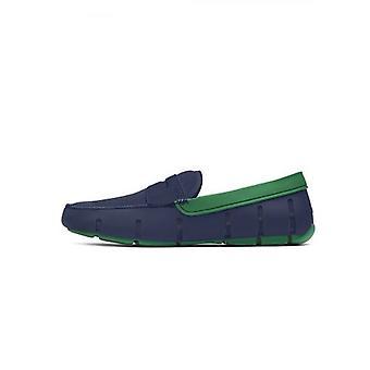 Stekken Navy & Jolly Green penny loafer