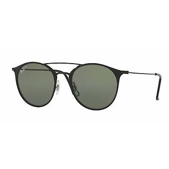 راي بان RB3546 186/9A لامعة-ماتي أسود / النظارات الشمسية الخضراء المستقطبة