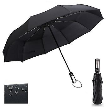 Wind Resistant Three Folding - Automatic Umbrella Rain Women Auto Luxury Big Windproof