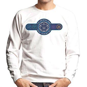 Crystal Maze logo fargede symboler menn ' s Pullover