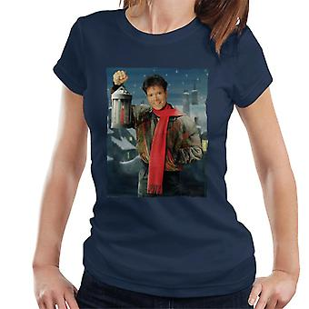 TV kertaa Cliff Richard joulu lyhty 1990 naisten t-paita