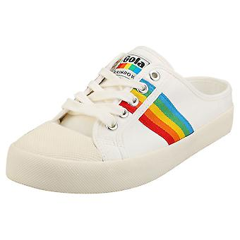 Gola Coaster Rainbow Womens Mule Trainers in Off White Multicolour