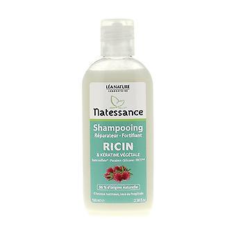 Shampooing réparateur fortifiant Ricin et Kératine végétale 100 ml