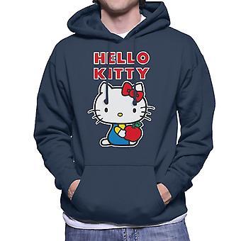 Hello Kitty Holding Apple Miehet&s Hupullinen Collegepaita