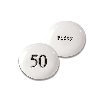 50 Caillou de porcelaine pour le 50ème anniversaire - Cracker Filler Cadeau