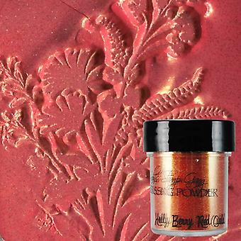 Lindy's Stamp Gang Holly Berry Red Gold Preging Powder
