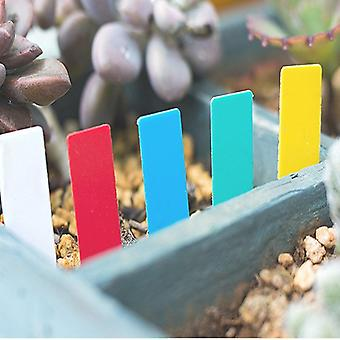Mini Plastic Plant Seed Label Pot Marker - Nursery, Garden Stake Tags Tools