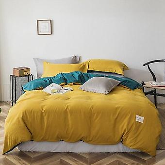 Modern Luxury Solid Color Brief Bedding Set - King Size Single Double Queen Bed Linen Sheet Polyester Bedclothes