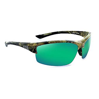 Archer - sports wrap polarized mens green sunglasses