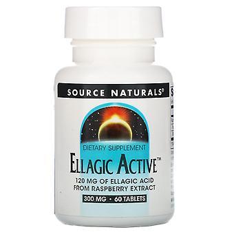 Fuente Naturals, Ellagic Active, 300 mg, 60 Tabletas