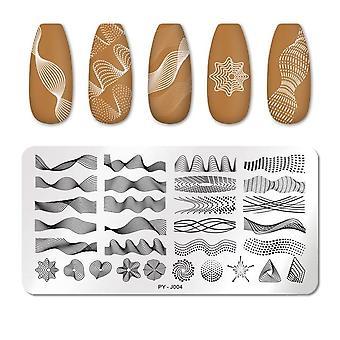 Geometric Design Stamping Plate Flower - Stampa Nail Art in acciaio inossidabile