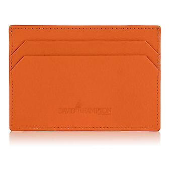 Orange Malvern Leather Slim Card Holder