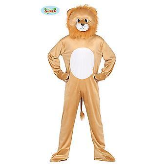 León León traje traje de mono del animal adulto mascota traje, tamaño: L