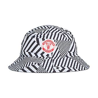 adidas Manchester United Fan Supporter Bucket Hat White/Black