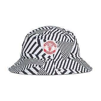 أداسداس مانشستر يونايتد مروحة مؤيد دلو قبعة الأبيض / الأسود