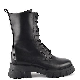 Ash Footwear Liam Lace-up Leather Boots Black