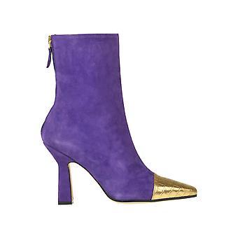 Paris Texas Ezgl425008 Women's Purple Suede Enkellaarzen