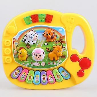 Musical Educational Piano Cartoon Animal Farm Developmental Baby Toys- Random Color