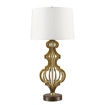 Elstead Octavia - 1 lys bordlampe Guld, E27