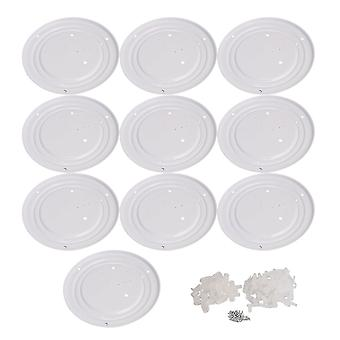 10 Pieces 255mm Dia LED Ceiling Lamp Chassis Fit for Home Illumination