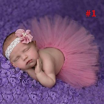 Peluche Full Baby Tutu Jupe et bandeau Ensemble, Nouveau-né Tutus Little Photo
