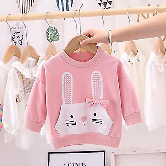 Dziewczyny Cartoon Rabbit Koszule- Winter Spring Baby Kids Long Sleeve Soft Cotton Top Cute T-shirt Stroje dla dzieci Ubrania Bluza