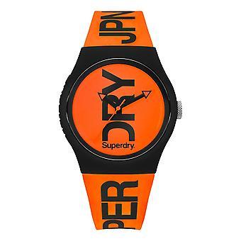 Superdry Urban Brand Fluoro Watch - Orange