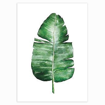 Moderne Wand Kunst Gemälde - tropische Pflanzen Poster grün Blätter dekorativ