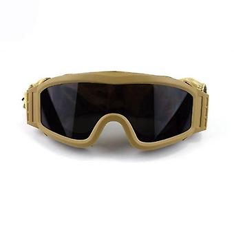 Tactical Goggles, Military Shooting Sunglasses With 3 Lens -army Airsoft