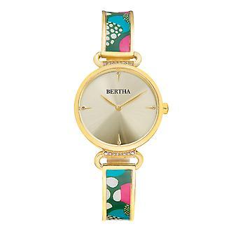Bertha Katherine Enamel-Designed Bracelet Watch - Green