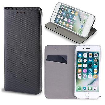 iPhone 12 Mini - Smart Magnet Mobilplånbok - Svart