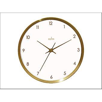 Acctim Eadie Wall Clock Brush Brass 26cm 29418