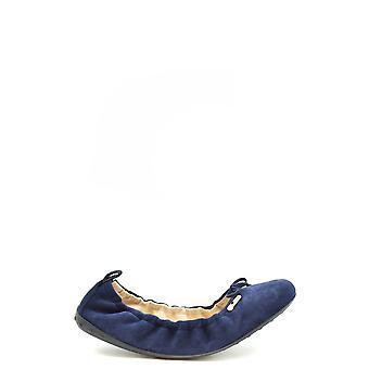 Tod's Ezbc025152 Women's Blue Suede Flats