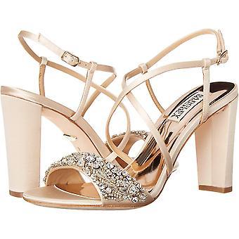 BADGLEY MISCHKA Women's الأحذية كارولين ساتين فتح توب مناسبة خاصة بغل سا...