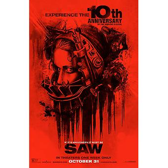 Saw Original Movie Poster Rare 10th Anniversary Re-release Style