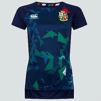 Canterbury British & Irish Lions Rugby Super Light Graphic Tee | Womens | Peacoat Blue | 2021