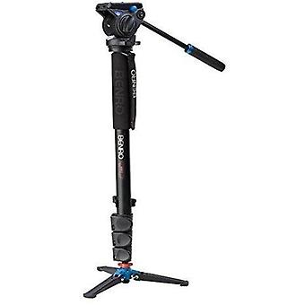 Benro aluminum 4 series flip-lock video monopod kit w/ articulating base and s4 video head (a48fds4)