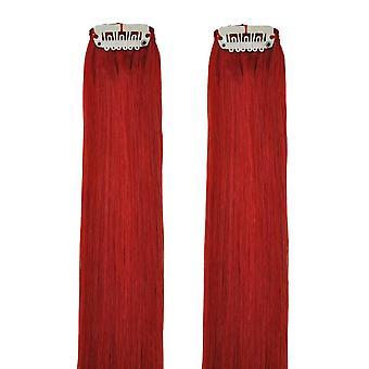 Красный - Clip в серии волос