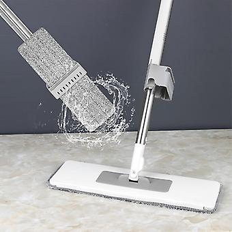 Flat Mop Free Hand Washing Lazy Mop Squeeze Mop Automatic Spin 360 Rotating Wooden Floor Mop Household Cleaning Tool