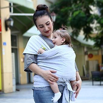 Baby Carrier Sling För nyfödda, Soft Infant Wrap Andas Hipseat Amning