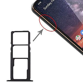 علبة بطاقة SIM + علبة بطاقة SIM + علبة بطاقات Micro SD لنوكيا 3.2 TA-1156 TA-1159 TA-1164 (أسود)
