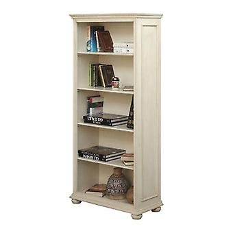 White Patinated Day Bookcase 4 Shelves