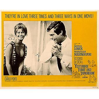 Yesterday Today And Tomorrow Sophia Loren Marcello Mastroianni 1963 Movie Poster Masterprint