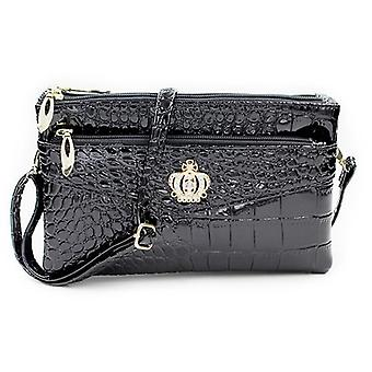 Crossbody Shoulder And Crown Messenger, Double-zipper Pouch Bag