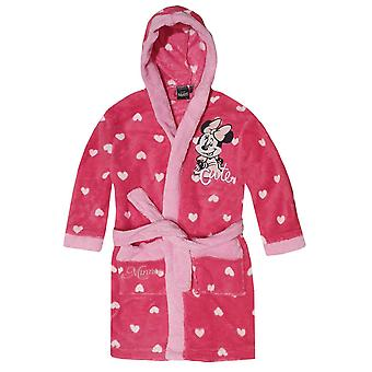 Disney minnie girls robe dressing gown hoodie mne2711rob